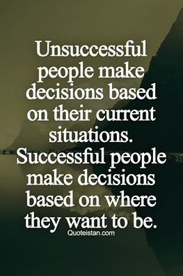 Quote about successful people's decisions
